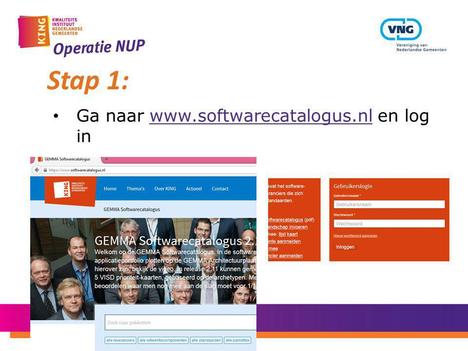 Stap 1: Ga naar www.softwarecatalogus.nl en log in
