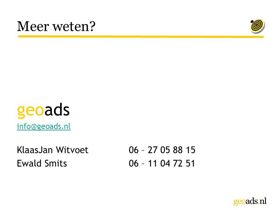 geoads Meer weten KlaasJan Witvoet 06 – 27 05 88 15