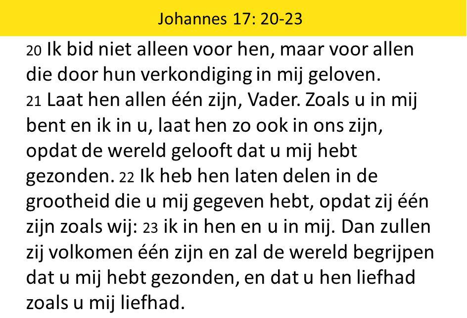 Johannes 17: 20-23