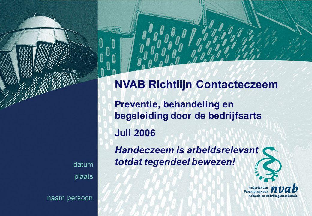 NVAB Richtlijn Contacteczeem