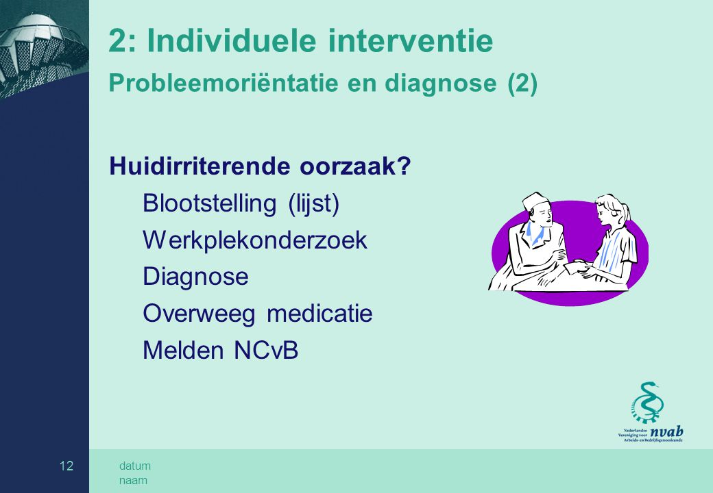 2: Individuele interventie Probleemoriëntatie en diagnose (2)
