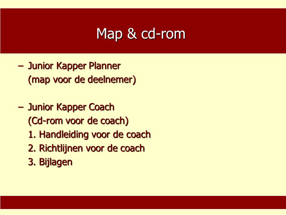 Map & cd-rom Junior Kapper Planner (map voor de deelnemer)