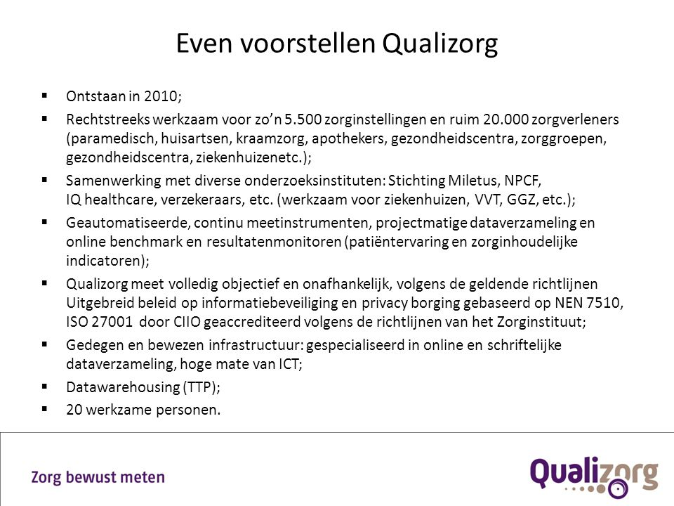 Even voorstellen Qualizorg