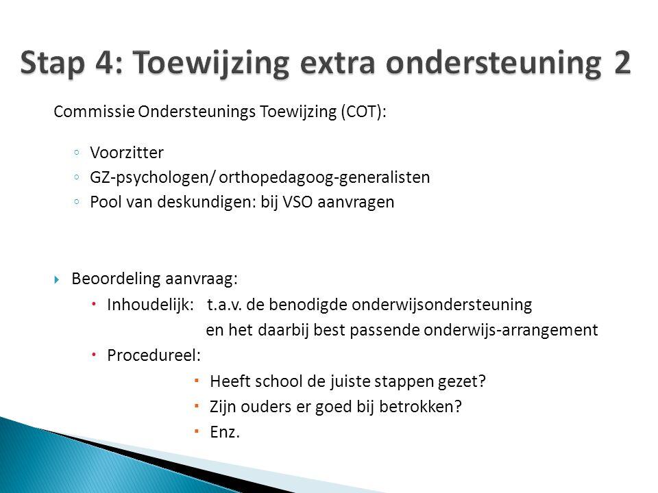 Stap 4: Toewijzing extra ondersteuning 2