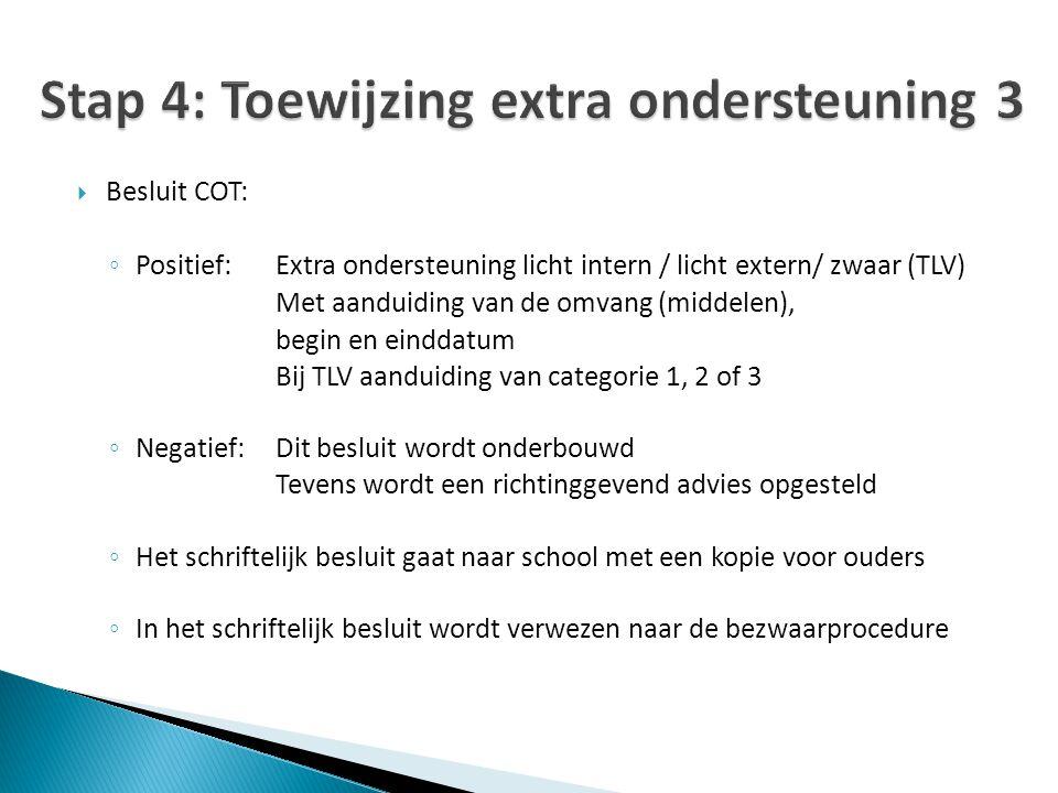 Stap 4: Toewijzing extra ondersteuning 3