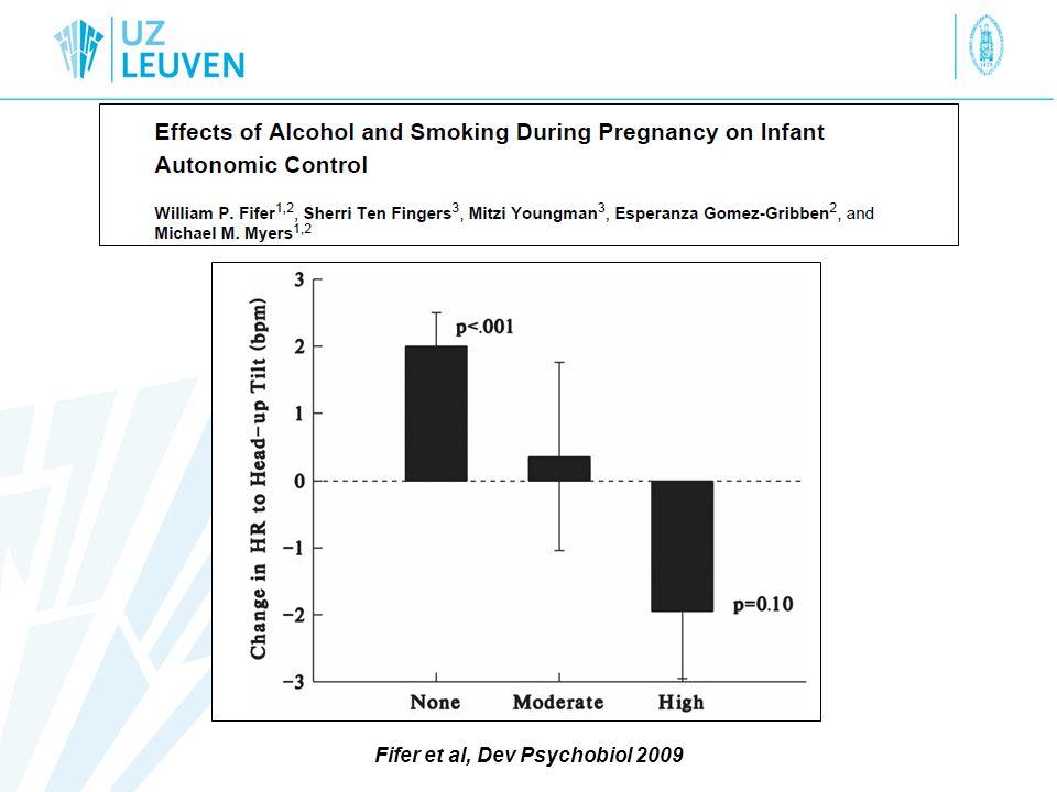 Fifer et al, Dev Psychobiol 2009