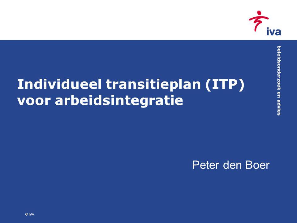 Individueel transitieplan (ITP) voor arbeidsintegratie