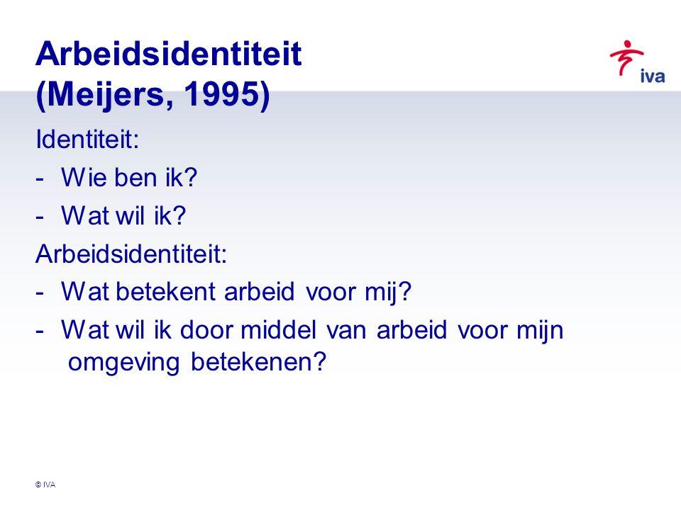 Arbeidsidentiteit (Meijers, 1995)