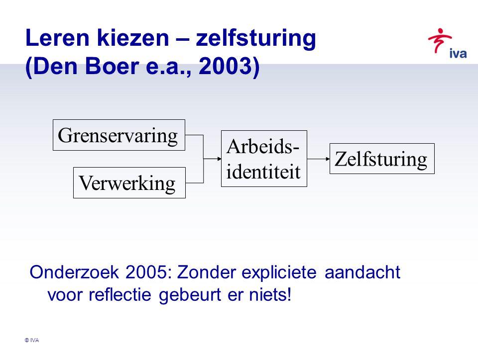 Leren kiezen – zelfsturing (Den Boer e.a., 2003)
