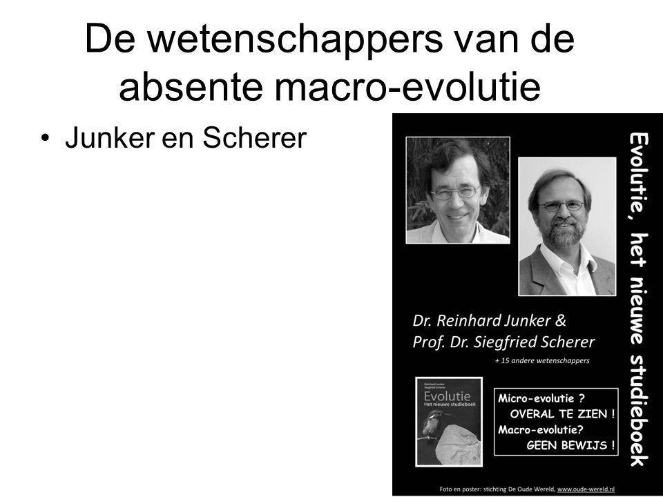 De wetenschappers van de absente macro-evolutie