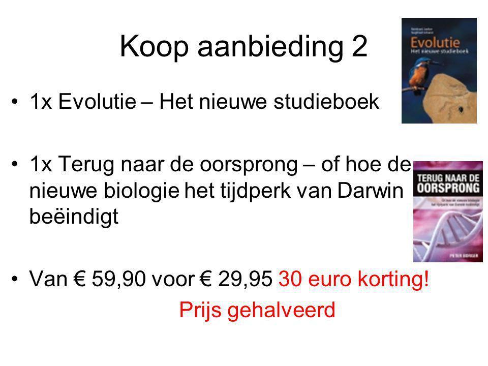 Koop aanbieding 2 1x Evolutie – Het nieuwe studieboek