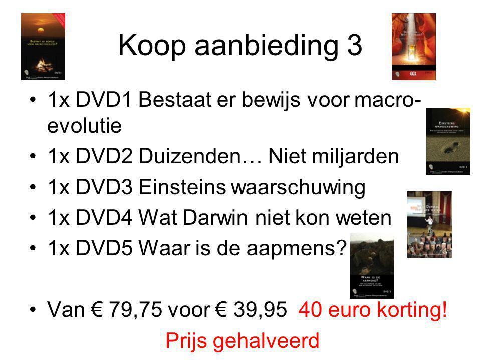 Koop aanbieding 3 1x DVD1 Bestaat er bewijs voor macro-evolutie