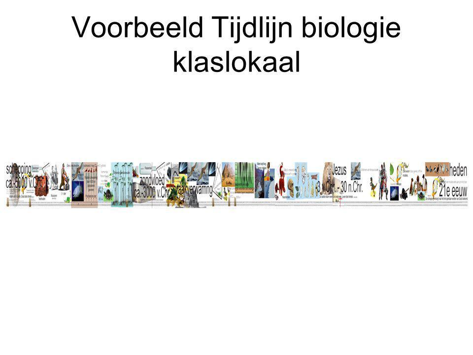 Voorbeeld Tijdlijn biologie klaslokaal