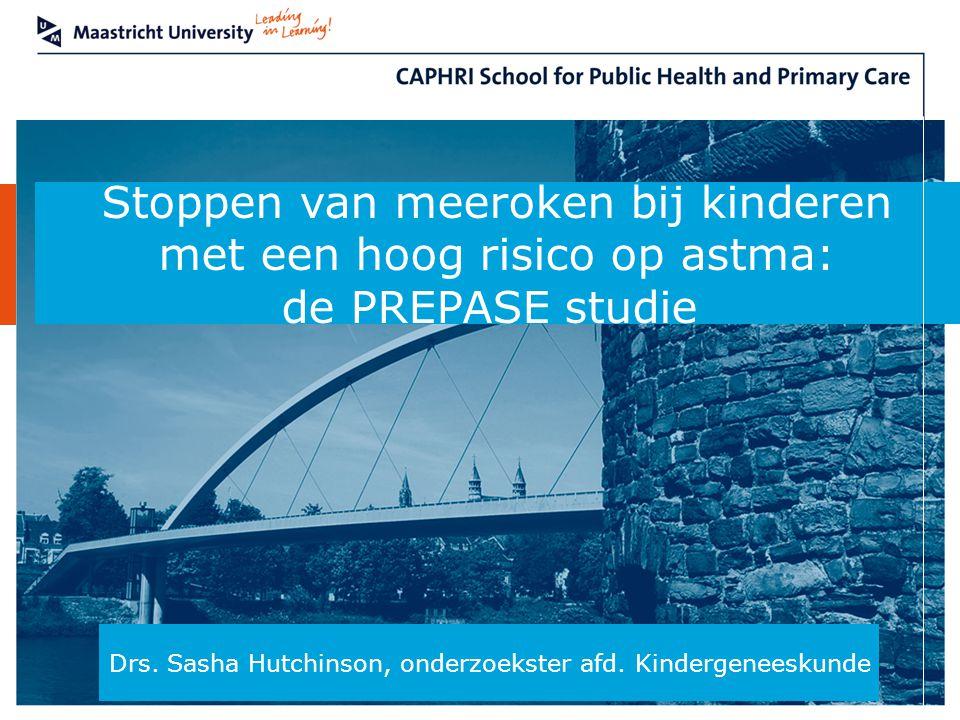 Stoppen van meeroken bij kinderen met een hoog risico op astma:
