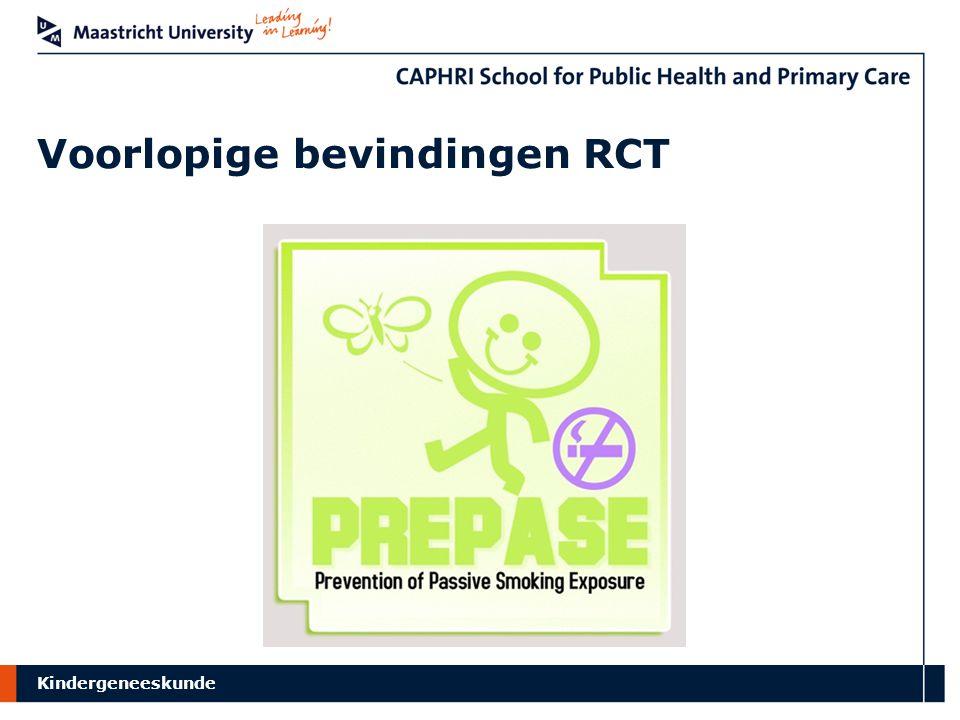 Voorlopige bevindingen RCT