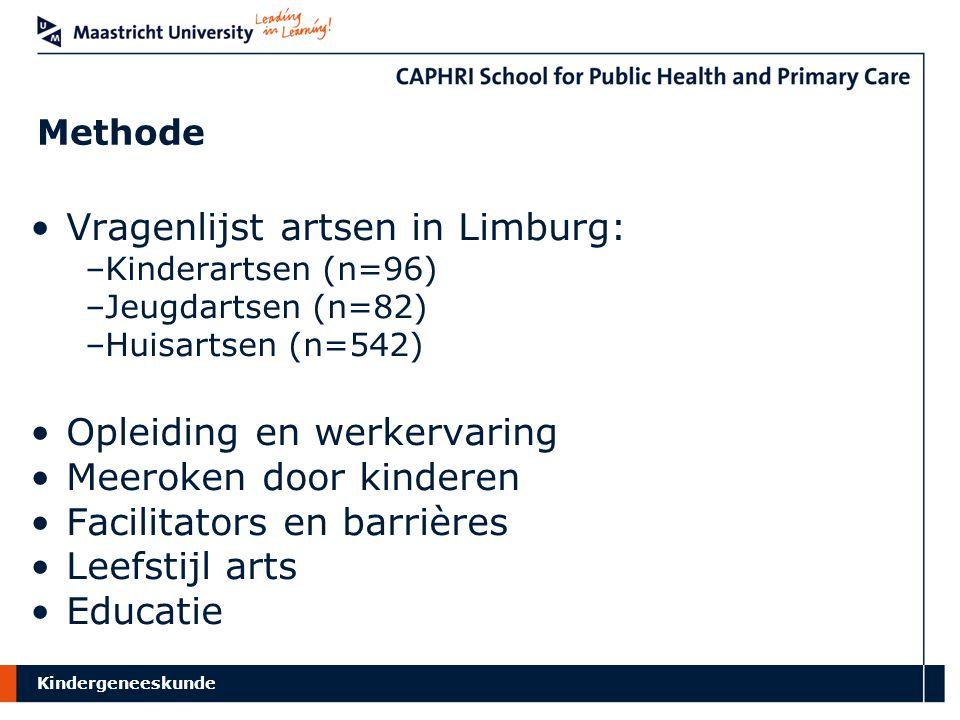 Vragenlijst artsen in Limburg: