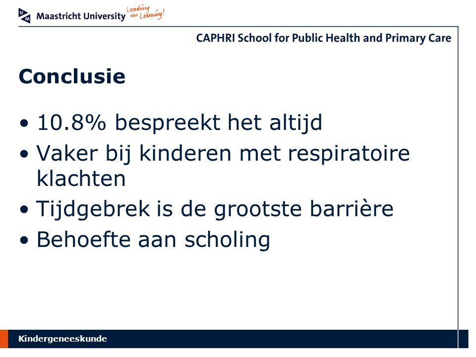 Vaker bij kinderen met respiratoire klachten