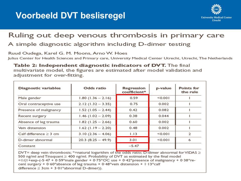 Voorbeeld DVT beslisregel