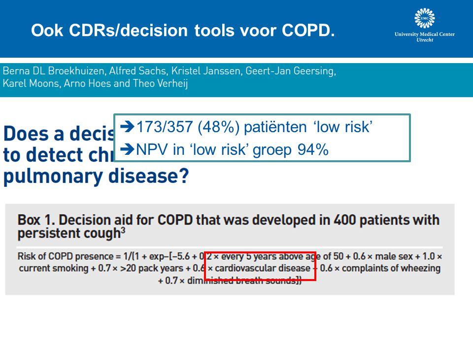 Ook CDRs/decision tools voor COPD.