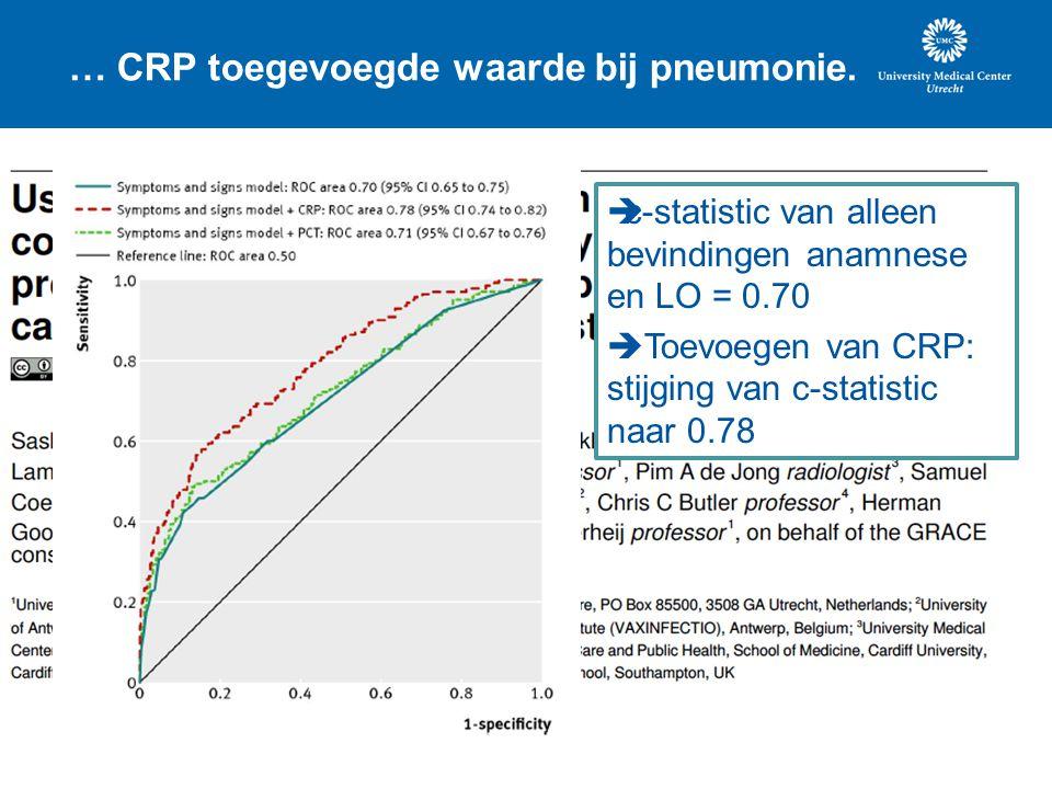 … CRP toegevoegde waarde bij pneumonie.