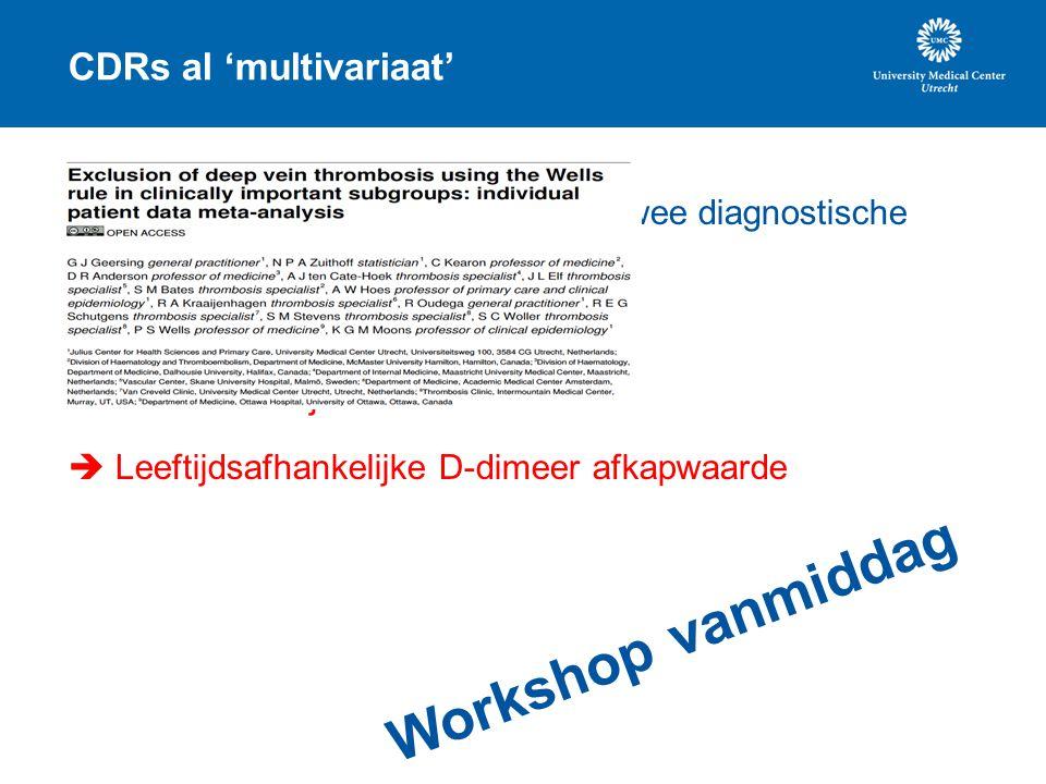 CDRs al 'multivariaat'