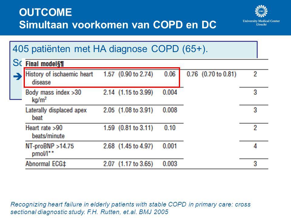 OUTCOME Simultaan voorkomen van COPD en DC