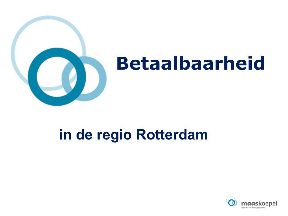 Betaalbaarheid in de regio Rotterdam