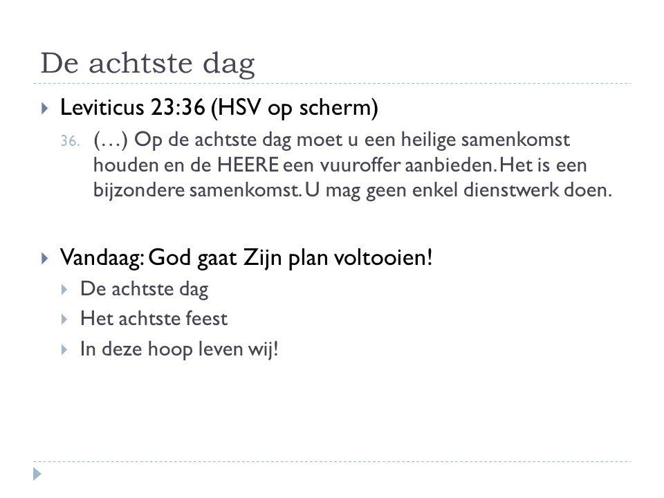 De achtste dag Leviticus 23:36 (HSV op scherm)