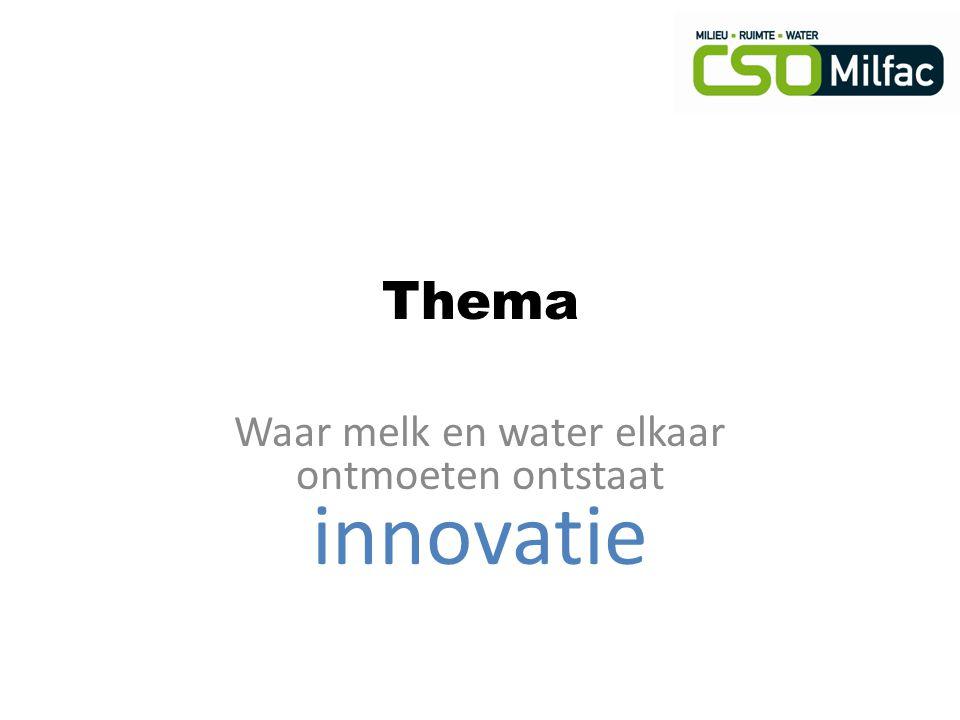 Waar melk en water elkaar ontmoeten ontstaat innovatie