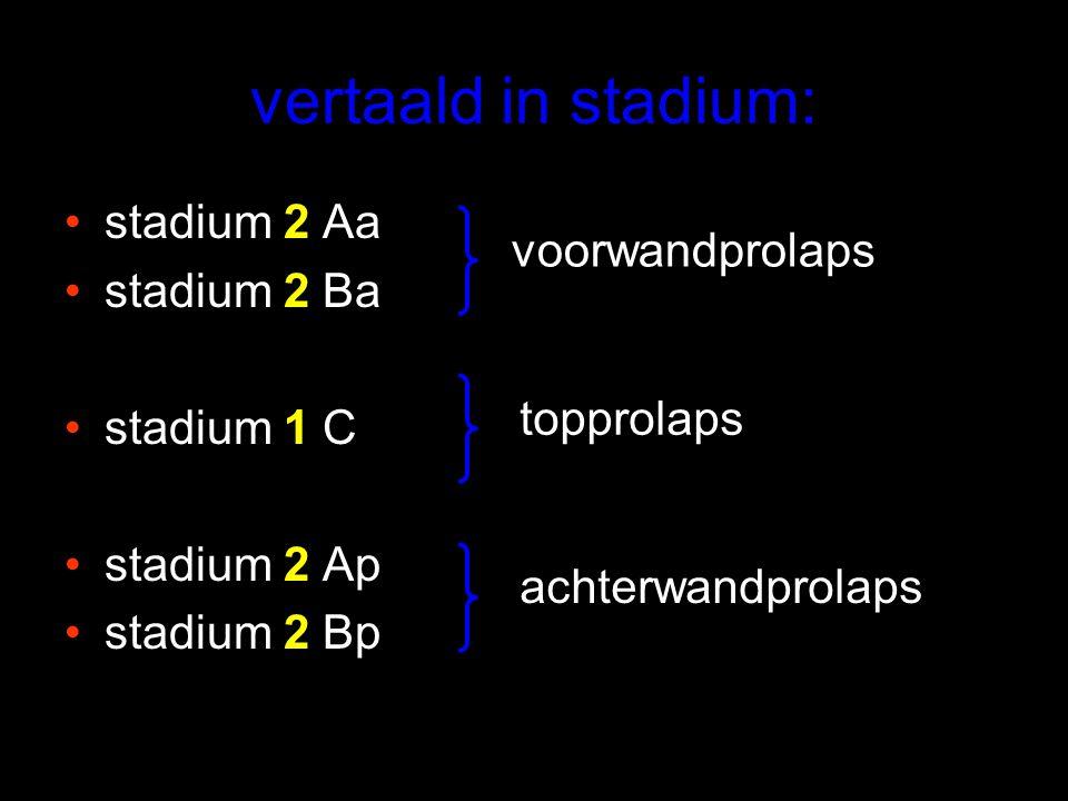 vertaald in stadium: stadium 2 Aa stadium 2 Ba stadium 1 C