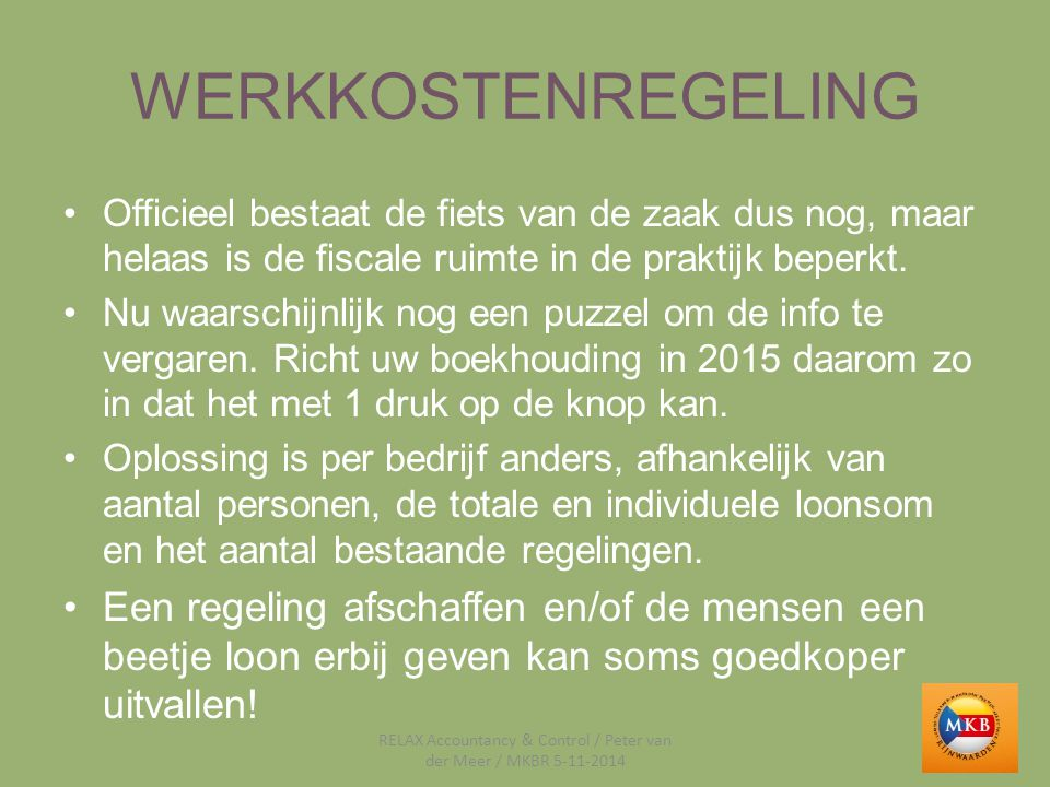 RELAX Accountancy & Control / Peter van der Meer / MKBR 5-11-2014