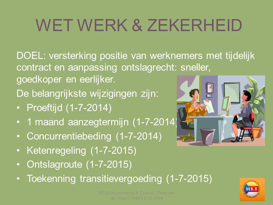 RELAX Accountancy & Control / Peter van der Meer / MKBR 5-11-2014
