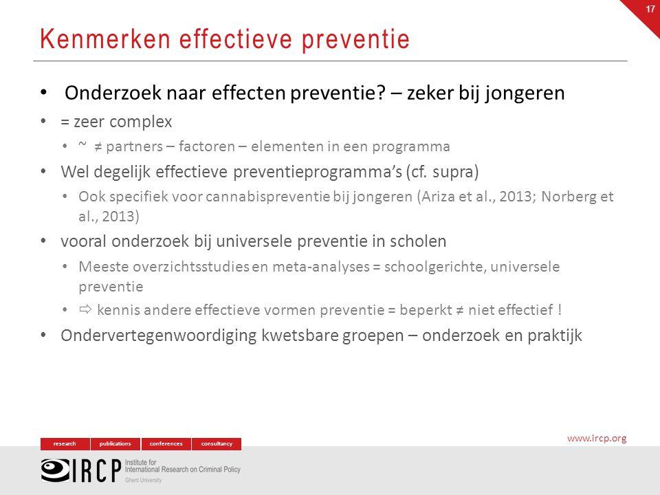 Kenmerken effectieve preventie