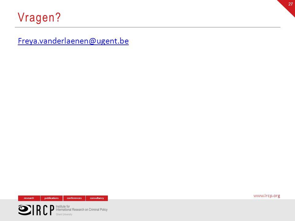 Vragen Freya.vanderlaenen@ugent.be