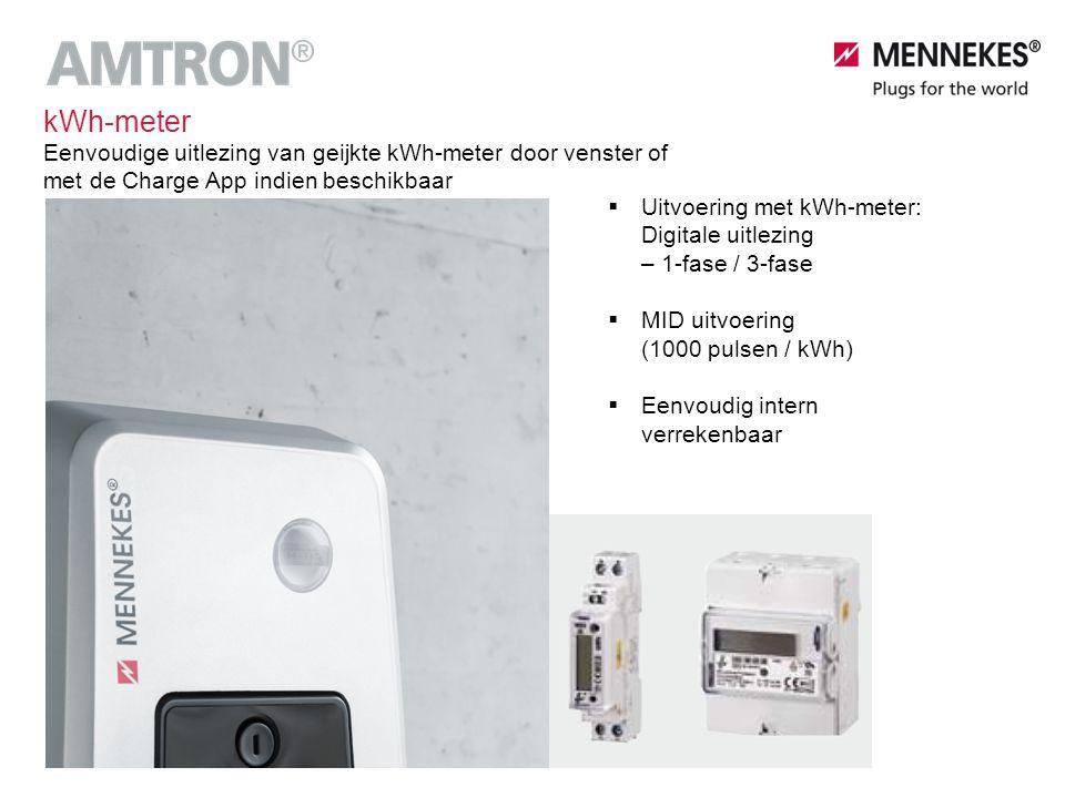 kWh-meter Eenvoudige uitlezing van geijkte kWh-meter door venster of