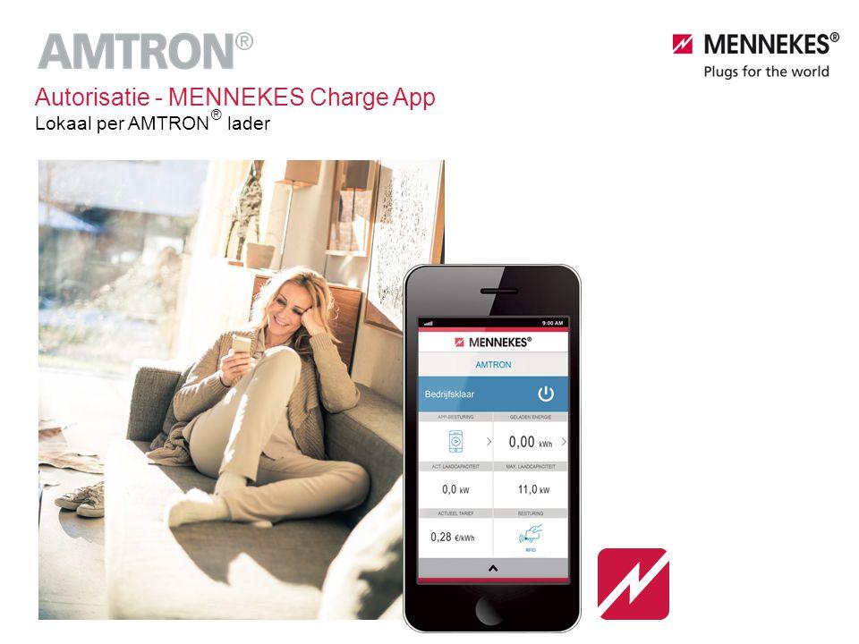 Autorisatie - MENNEKES Charge App