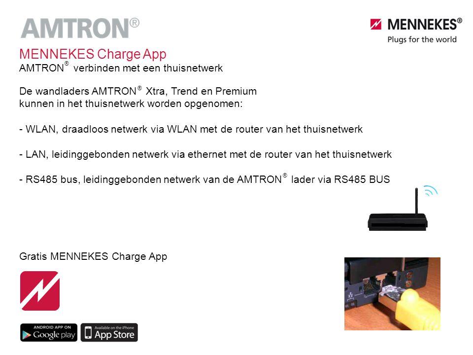 MENNEKES Charge App AMTRON verbinden met een thuisnetwerk