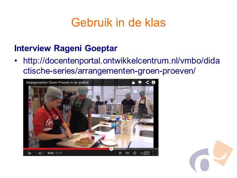 Gebruik in de klas Interview Rageni Goeptar