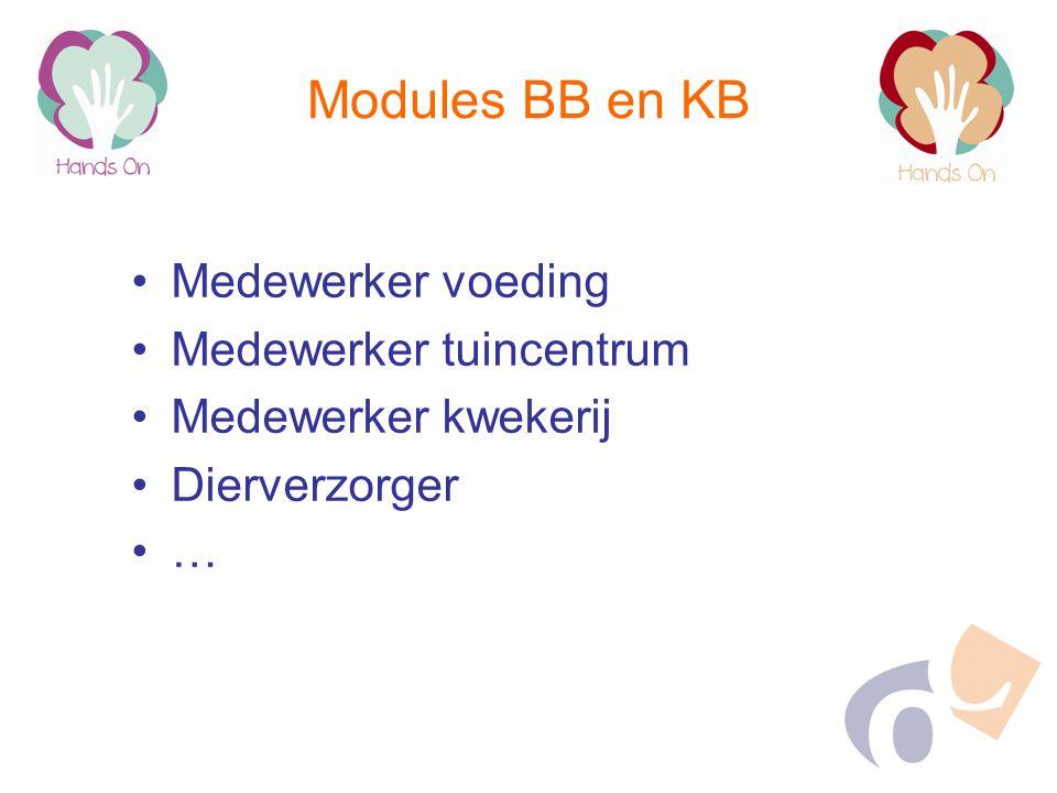 Modules BB en KB Medewerker voeding Medewerker tuincentrum