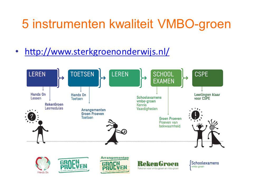 5 instrumenten kwaliteit VMBO-groen