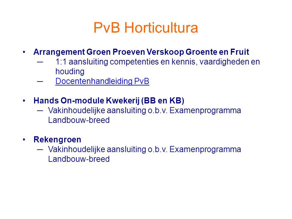 PvB Horticultura Arrangement Groen Proeven Verskoop Groente en Fruit