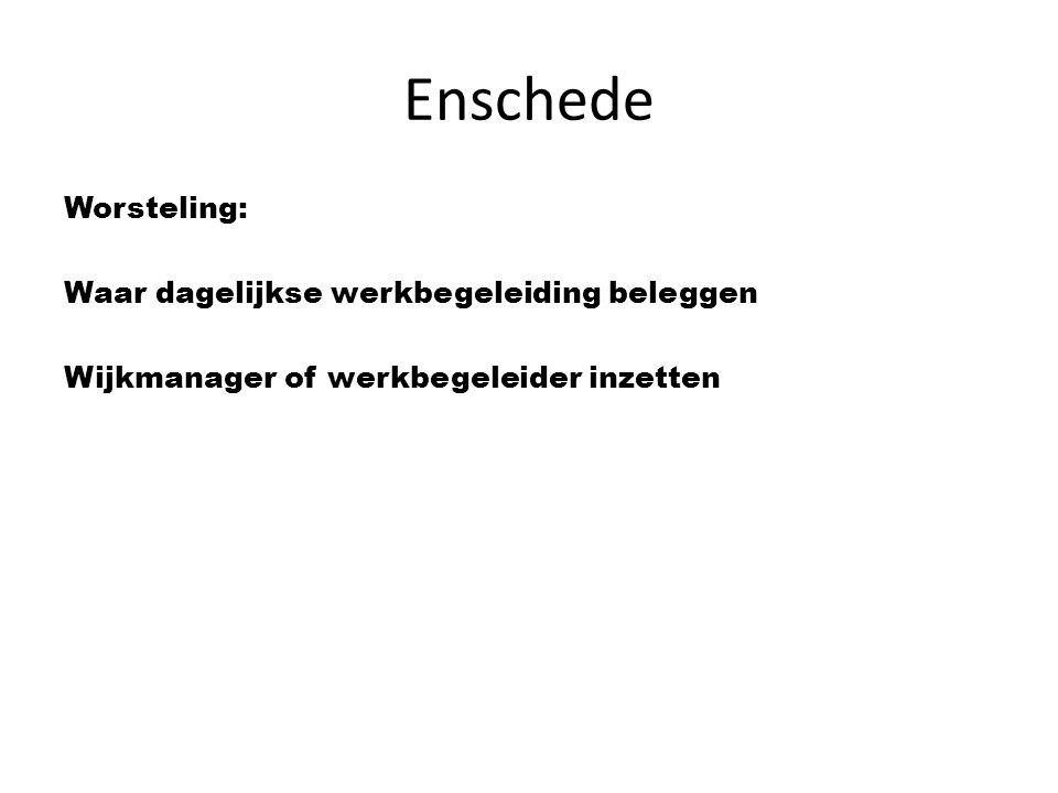 Enschede Worsteling: Waar dagelijkse werkbegeleiding beleggen Wijkmanager of werkbegeleider inzetten