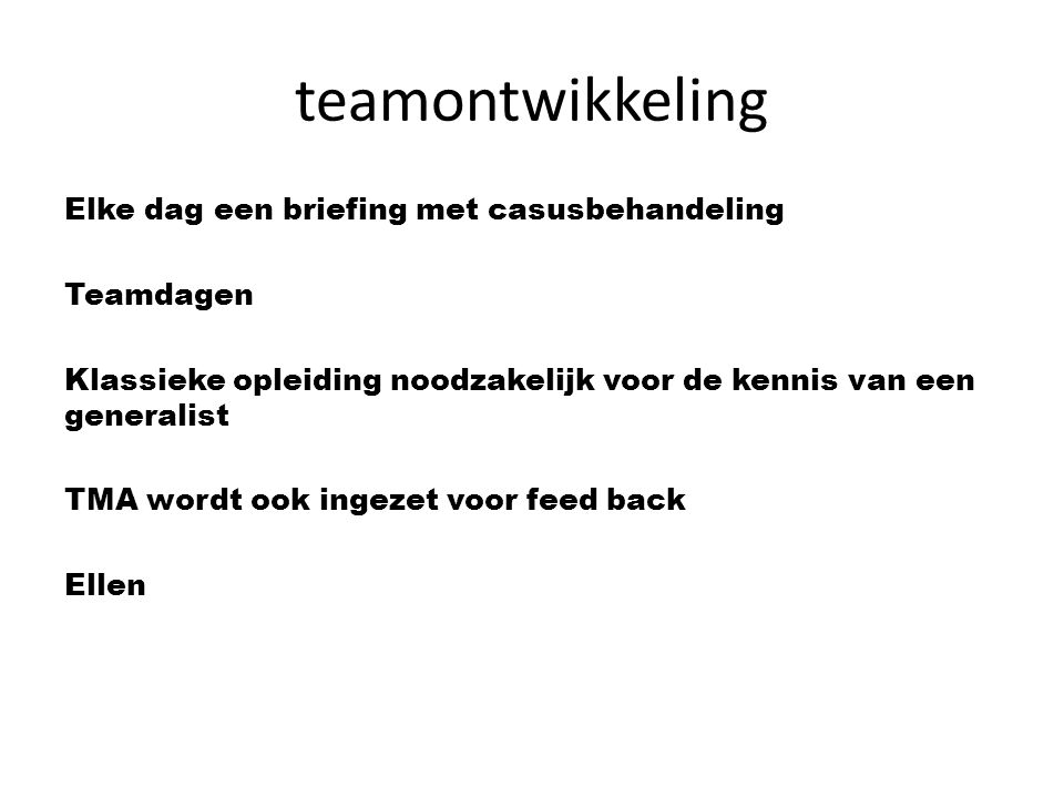teamontwikkeling