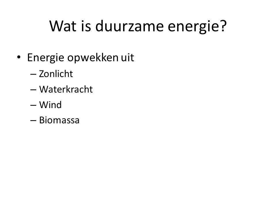 Wat is duurzame energie