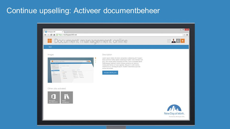 Continue upselling: Activeer documentbeheer