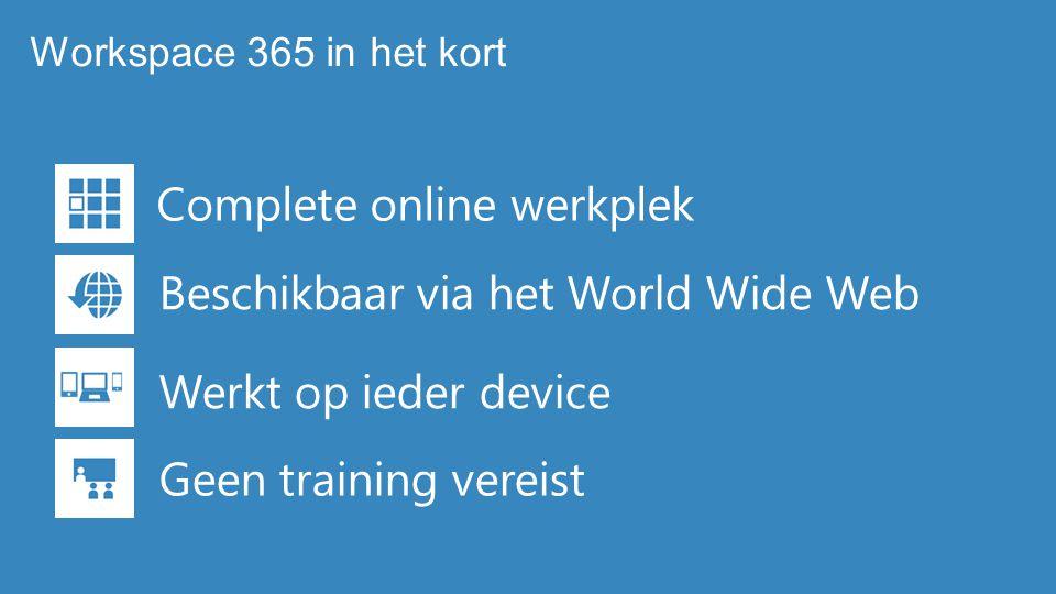 Complete online werkplek