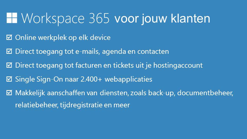 voor jouw klanten Online werkplek op elk device