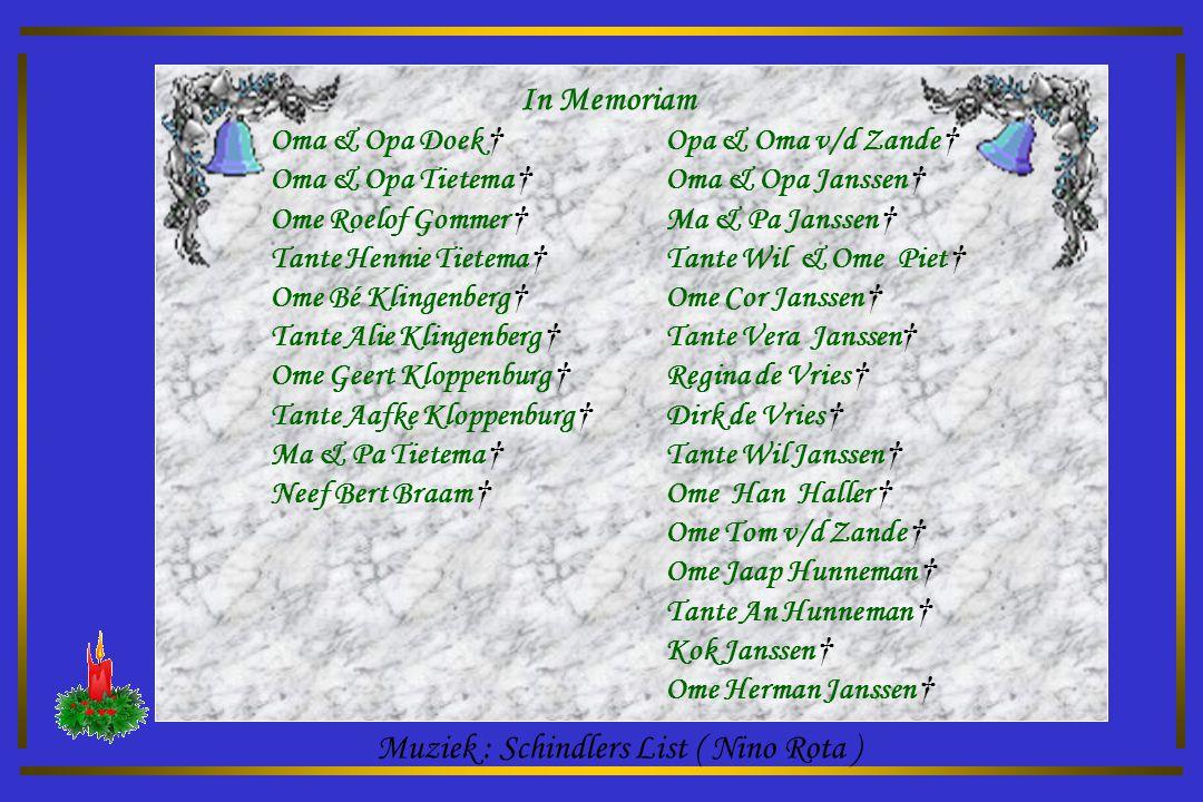 Muziek : Schindlers List ( Nino Rota )