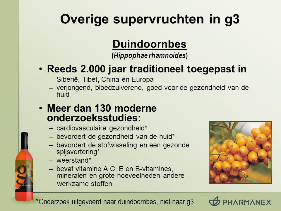 Overige supervruchten in g3 (Hippophae rhamnoides)