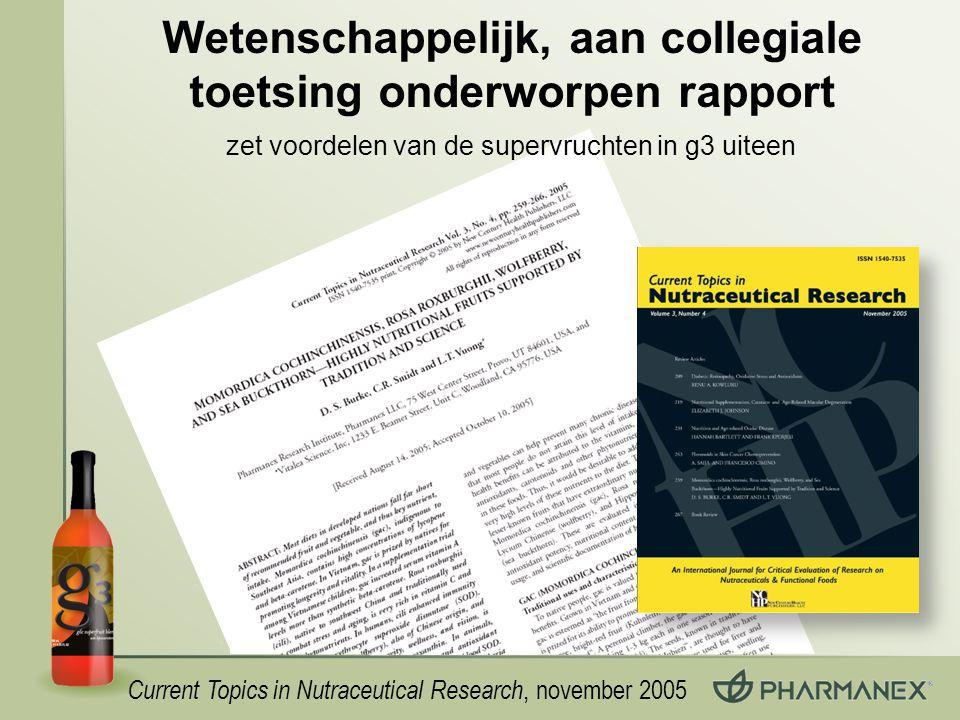 Wetenschappelijk, aan collegiale toetsing onderworpen rapport